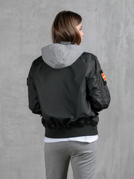 SCW1511/BLK Куртка - Бомбер со сменными шевронами